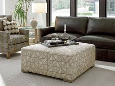 Shadow Play Melina Cocktail Ottoman in Gray | Lexington | Home Gallery Stores