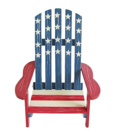 Like the paint job for miniature version (Holiday Inspirations Patriotic Wood Mini Chair Décor)
