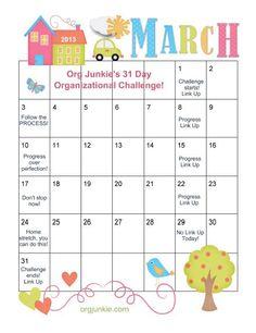 Org Junkie's 31 Day Organizational Challenge!