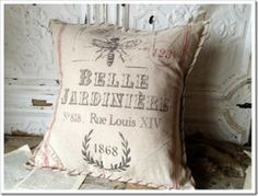 Belle Jardinere Linen Pillow Giveaway at Confessions of a Plate Addict blog