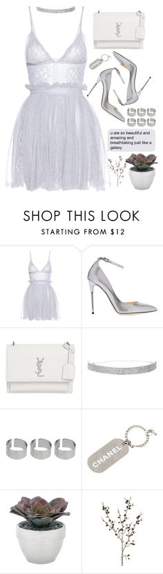 """Untitled #331"" by ihadavision ❤ liked on Polyvore featuring Alexander McQueen, Jimmy Choo, Yves Saint Laurent, ASOS, Chanel, Torre & Tagus and Pavilion Broadway"