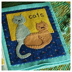 Cat quiet book page