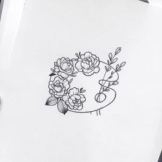 Drawing Flowers Flower Art Palette Doodle - Bullet Journal Drawing - Here is a list of 40 simple things to draw for your bullet journal. The perfect way to liven up your bullet journal is with art and little doodles. Tattoos Motive, Body Art Tattoos, Small Tattoos, Tatoos, Ankle Tattoos, Family Tattoos, Celtic Tattoos, Girl Tattoos, Tiny Flower Tattoos