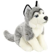 """Toys R Us Plush 16 inch Husky - Gray and White - Toys R Us - Toys """"R"""" Us"""