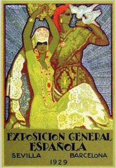 Vintage Poster Sevilla - Juan Miguel Sánchez