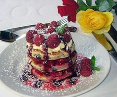 Welsh Cakes stacked with Clotted Cream and Raspberries - from Priskilly Forest Country House, Pembrokeshire  http://www.little-places.co.uk/recipe-welsh-cakes-stacked-with-clotted-cream-and-raspberries