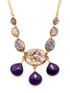 Purple Quartz Pendant Drop Necklace by David Aubrey on Gilt.com