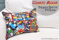 A super awesome Comic Book Superhero Pillow Tutorial