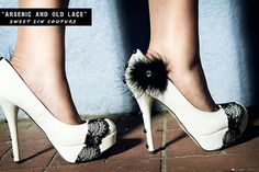 Black and white decorative shoes.
