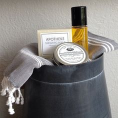 Shaving soap, beeswax pomade, and beard oil- All  are handmade in Brooklyn!