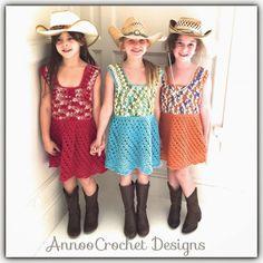 Free #crochet girl's dress pattern from Annoo's Crochet World.