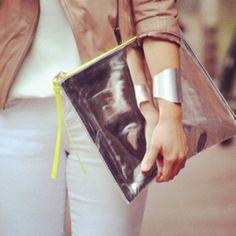 Silver bag.