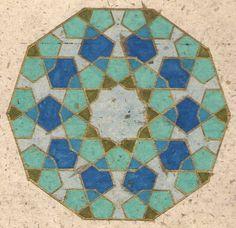 Geometric Pattern by Fatima Zahra Hassan - 1991 RCA Islamic Motifs, Islamic Patterns, Islamic Art, Arabesque, Middle Eastern Art, Arabic Pattern, Mosaic Patterns, Geometric Patterns, Geometric Shapes