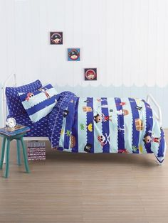 Dream of sailing the seven seas searching for treasure and exploring the islands and with the crew on the Ahoy There 4 Piece Bed Linen Pack by Squiggles. Bed Linen, Linen Bedding, Kids Sheets, Seas, Duvet Cover Sets, Searching, Exploring, Islands, Sailing