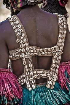 Africa | Costume detail from a Dogon dancer. Mali | ©Phil Marion
