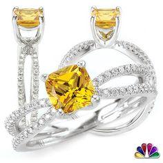 Love at First Sight; White G Premium Yellow Sapphire ring.