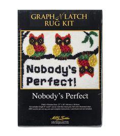 "Latch Hook Kit 27""X20"" - Nobody's Perfect"