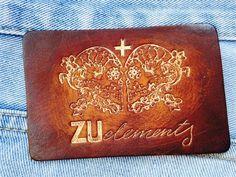 leather label / vintage tekstil