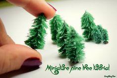 miniature pine tree tutorial...