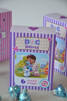 Doc McStuffins inspired pdf printable BandAid Goodie Box by GlitterInkDesigns.... These were a hit at the party!