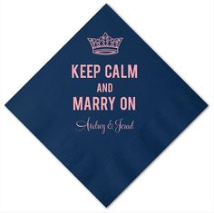 Personalized  Keep Calm and Marry On  Wedding by GraciousBridal, $36.00