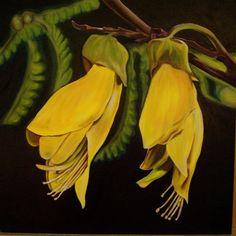 Kowhai - national flower of New Zealand New Zealand Houses, New Zealand Art, Tui Bird, Youre On My Mind, Nz Art, Everything Is Connected, Kiwiana, Botanical Art, Beautiful Flowers