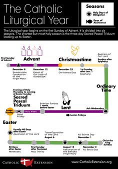 """Catholic Extension on Twitter: """"This Sunday marks the beginning of a new year for the #Catholic Church! Take a look ahead with this infographic. Catholic Religious Education, Catholic Catechism, Catholic Beliefs, Catholic Kids, Catholic Quotes, Catholic Prayers, Catholic Traditions, Roman Catholic Bible, Christianity"""