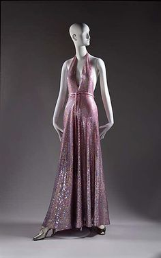 Evening Dress, Halston (American, 1932–1990): ca. 1974, American, cotton/rayon/plastic.