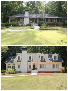 Before and after story ranch addition. – – Best liposuction Before and after story ranch addition. – Before and after story ranch addition. Home Exterior Makeover, Exterior Remodel, Ranch Addition, Ranch Home Additions, Painted Brick Ranch, Painted Bricks, Brick Ranch Houses, Ranch House Remodel, Br House