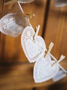 Marriage advice hearts.  Could buy a ton of these on clearance from Valentines right now!