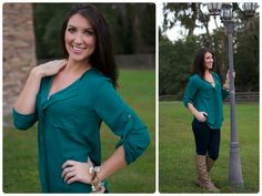 This gorgeous top is a must have! The v-neck, flat ruffle front, and button tab sleeves makes for a perfect top! It's loose fitting and long enough to wear with your leggings or skinny jeans!  *Boots in the photo are available!