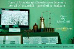 Dal 19 al 21 giugno 2015 puoi seguire a Pancalieri (Torino) un corso su Aromaterapia Emozionale e Benessere attraverso gli oli essenziali. Prenderemo in considerazione anche le sinergie con i fiori di Bach. Per tutte le info www.fiordicamomilla.org