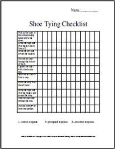 FREE dressing skills chart/guide. Occupational Therapy