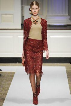 Oscar de la Renta Pre-Fall 2012 Fashion Show - Elsa Sylvan