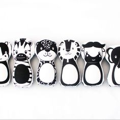 Panda Pillow, Fox Pillow, Safari Theme Nursery, Themed Nursery, Cot Duvet, African Babies, Monochrome Nursery, 5 Box, Unisex Gifts