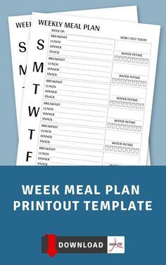 Weekly Meal Planner Template, Weekly Schedule Planner, Routine Planner, Meal Planner Printable, Food Planner, Agenda Planner, Fitness Planner, Free Printable, Recipe Organization