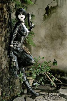 Character: Domino (Neena Thurman) / From: MARVEL Comics 'X-Force' / Cosplayer: Gabriela Almeida (aka Shermie Cosplay) / Photo: Victor Hugo Male Cosplay, Best Cosplay, Cosplay Girls, Awesome Cosplay, Comic Books Art, Comic Art, Cyberpunk, Samurai, Deadpool