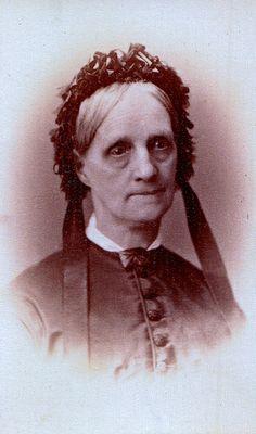 Doe-Eyed Widow, Albumen Carte de Visite, Circa 1866 | Frank Rowell, Photographer, 23 Winter St., Boston, Mass