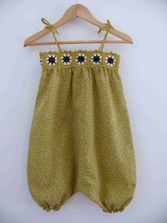 Like a yellow envy # 3 - my collections . three little dots - Girl Fashion Crochet For Kids, Sewing For Kids, Baby Sewing, Knit Crochet, Little Girl Dresses, Girls Dresses, Robes Tutu, Crochet Baby Clothes, Fashion Kids
