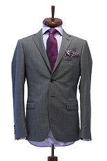 Sacou gri striat Slim Fit Gentlemen`s Corner - NOU! Gentleman, Suit Jacket, Breast, Corner, Slim, Costumes, Jackets, Fashion, Down Jackets