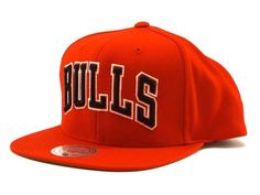 Mitchell   Ness Solid Wool Snapback Bulls in Red  mitchellandness  snapback   chicago   ac7d0d096c8