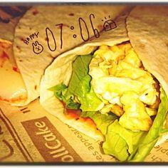 簡単&美味しい!具はハムチーズの他、レタス+スクランブルエッグなどお好みで(*´∀`)♪ - 25件のもぐもぐ - おうちでブリトー☆ by nao10