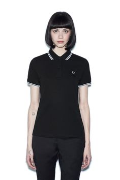 Fred Perry - G3600 Black / White / White