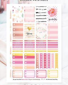 Happy Planner – Floral Sticker Printable