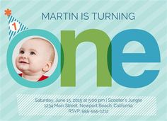 Baby Birthday Party Invite. Less than $1 and includes envelopes! woot!