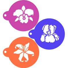 Exotic Flowers Cookie Stencil Set