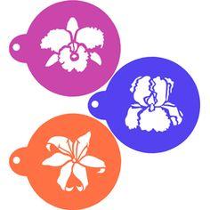 Exotic Flowers Cookie Stencil Set