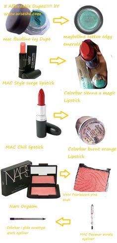 5 Affordable MAC & NARS DUPE