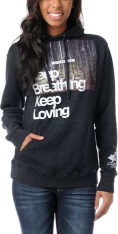#Glamour Kills Keep Breathing charcoal grey #hoodie. #Pullover #Zumiez #Inspirational #Sweatshirt