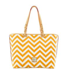 yellow chevron handbag